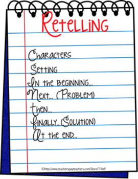 Retelling FREEBIE Printable