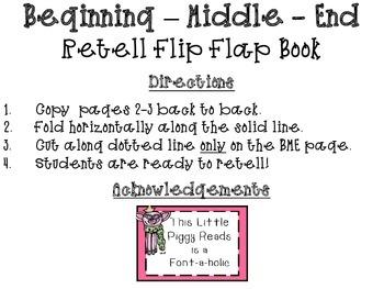Retelling Flip Flap Book