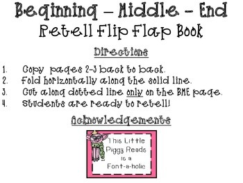 Retelling Flip Flap Book