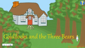 Retelling - Goldilocks and the Three Bears - Clipart and SmartBoard Activity