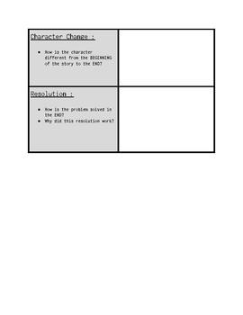 Retelling Graphic Organizer