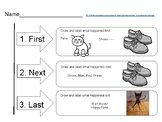 Retelling Graphic Organizer with Pete the Cat Example