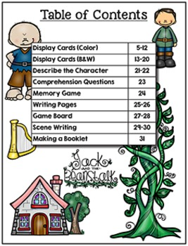 Retelling - Jack and the Beanstalk (Pre-K to Second)