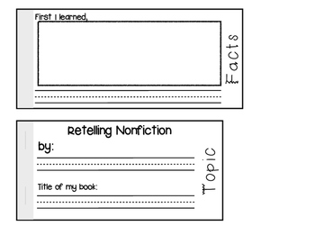 Retelling Nonfiction Flip Book {Primary}