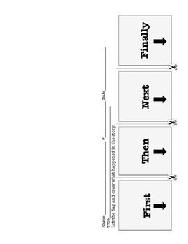 Retelling: Retell with pictures flip chart