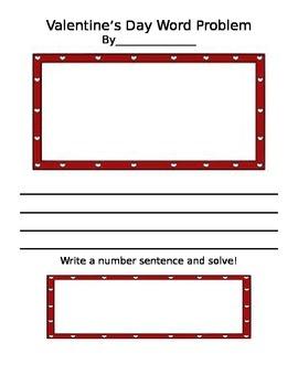 Write a Valentine Word Problem