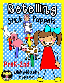 Retelling Stick Puppets {Wishy-Washy Inspired}