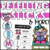 Retelling Activities - Retelling Stick, Bookmarks, & Graphic Organizers