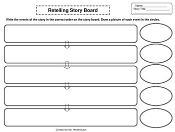 Retelling Story Board: Graphic Organizer for Retelling a Story