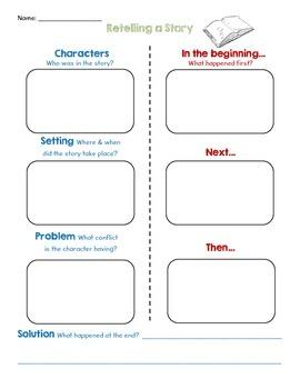 Retelling Story Sheet