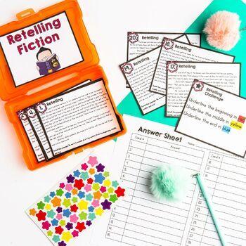 Retelling Task Cards 2nd & 3rd Grade