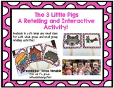 Retelling The 3 Little Pigs Interactive cards!