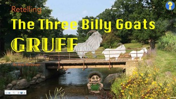 Retelling The Three Billy Goats Gruff - Clipart & SmartBoad Activity