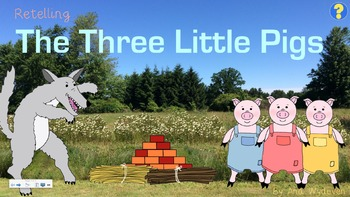 Retelling - The Three Little Pigs - Clipart & SmartBoard Activity