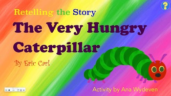 Retelling The Very Hungry Caterpillar Clipart Smartboard Activity