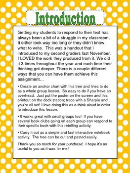 Retelling Tree: For Interactive Notebooks or Guided Reading Groups