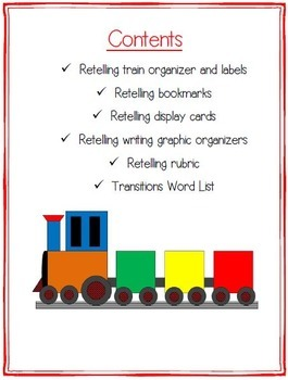 Retelling graphic organizers and rubric by sandra naufal tpt retelling graphic organizers and rubric stopboris Image collections