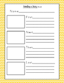 Retelling a Story Worksheet Printable