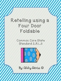 Retelling a story using a four door foldable