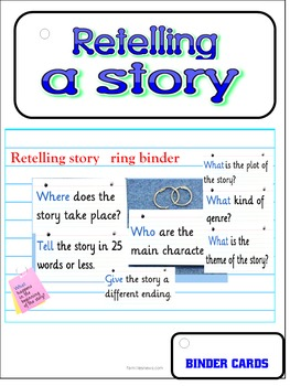 Retelling a story worksheets