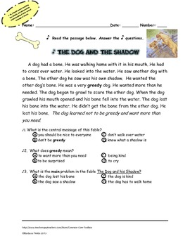 Retelling fables and folktales to understand the message and central idea