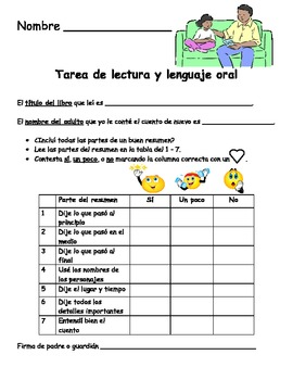 Retelling in Spanish