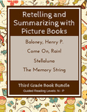 Retelling and Summarizing with Picture Books (Third Grade Book Bundle) CCSS