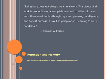 Retention and Memory
