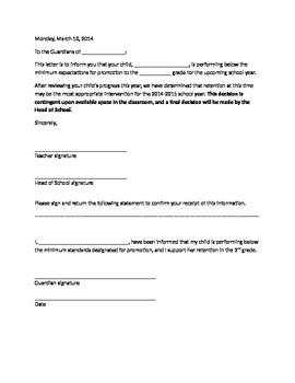 Retention letter