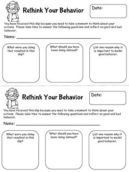 Rethink Your Behavior Freebie