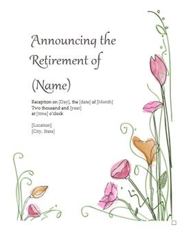 Retirement Announcements