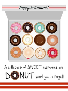 Retirement Booklet Class Gift for Retiring Teachers {Donut Edition}