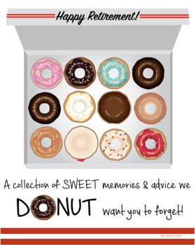Retirement Booklet Class Gift for Retiring Teachers {Donut with ADVICE Edition}