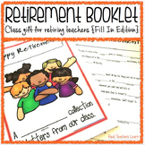 Retirement Booklet Class Gift for Retiring Teachers {Fill-In Edition}