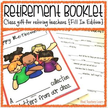 Retirement Booklet Class Gift for Retiring Teachers {Fill-