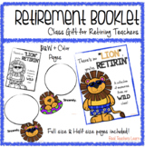 Retirement Booklet Class Gift for Retiring Teachers {Lion Edition}