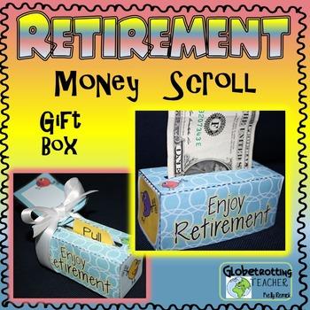 Retirement Gift - Money Scroll Box