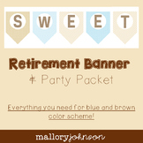 Retirement Party Packet - Banner, Gift Tags, and more!