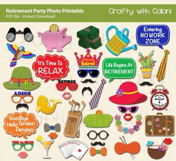 Retirement Party Photo Booth Prop Diy Party Classroom Games Printable