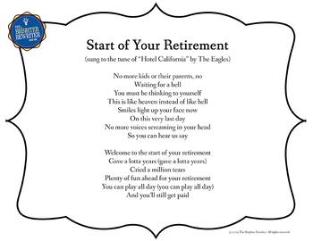 Retirement Song Lyrics for Hotel California