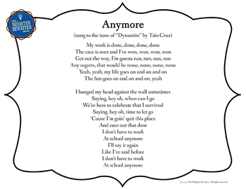 Retirement Song Lyrics for Dynamite