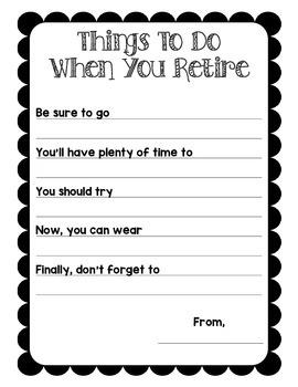 Retirement Suggestion Templates
