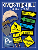 Teacher Retirement / Over the Hill Party Pack, Photo Booth Props, & Games