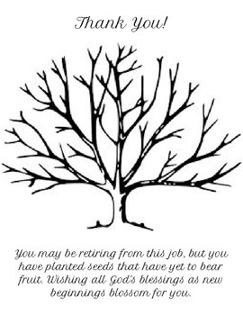 Retirement Thumbprint Tree