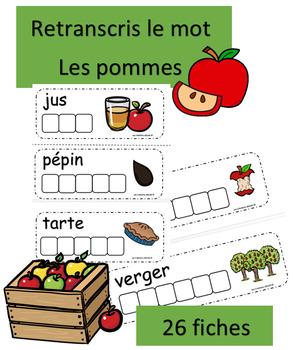 Retranscris le mot - Les pommes
