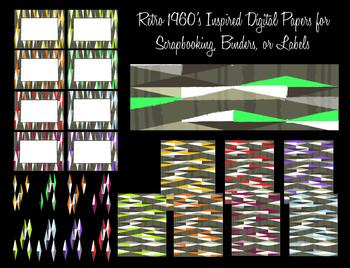 Trendy Geometric Diamond Background Papers - Labels - Clip Art -