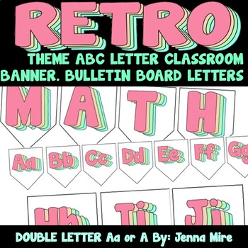 Retro ABC Disco Banner VSCO Hippie Font