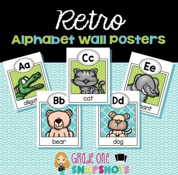 Retro Alphabet Posters