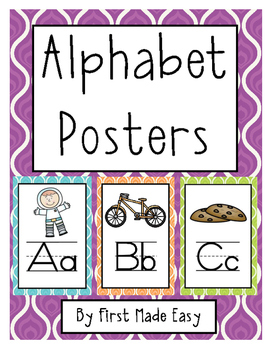 Alphabet Posters ~ Full and Half Page