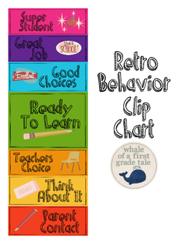 Retro Behavior Clip Chart
